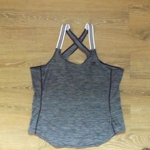 ADIDAS cross back gray athletic shirt XL